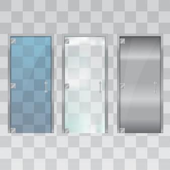 Современные стеклянные двери.