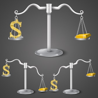 ドルと金のバランス。
