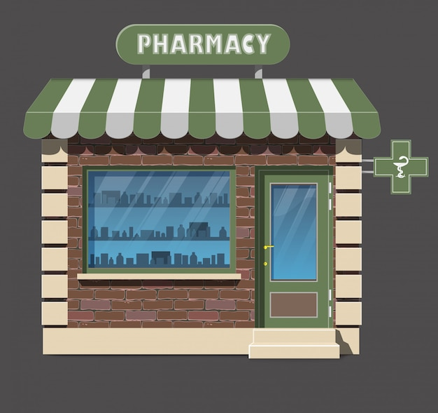 Аптека аптека фронт магазин