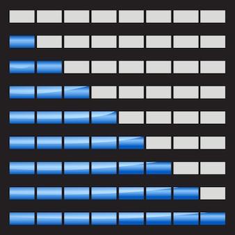 Горизонтальные индикаторы выполнения