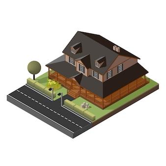 Американский коттедж, небольшой деревянный дом