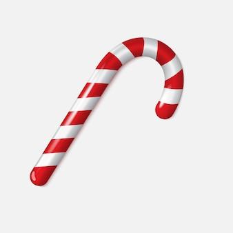 分離された現実的なクリスマスキャンデー杖