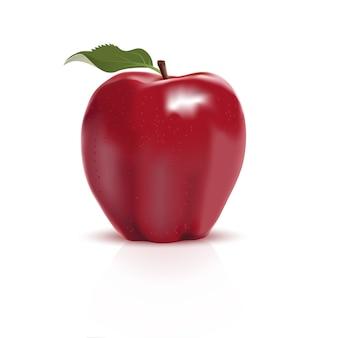 分離された赤いリンゴ