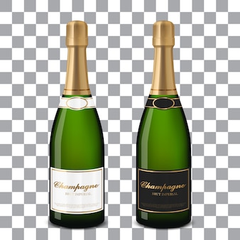 Векторные бутылки шампанского