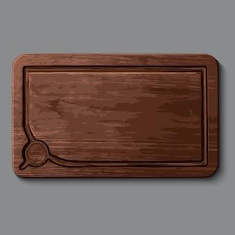 Реалистичная деревянная разделочная доска