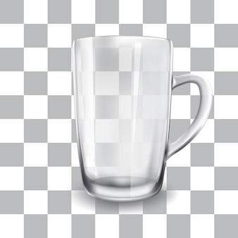空のガラスカップのベクトルイラスト