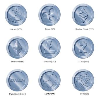 Криптовалюты значки монет