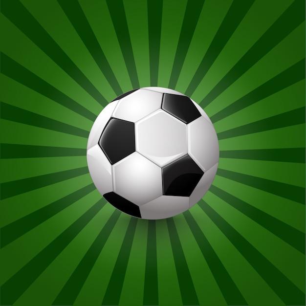 Иллюстрация футбольного мяча на фоне