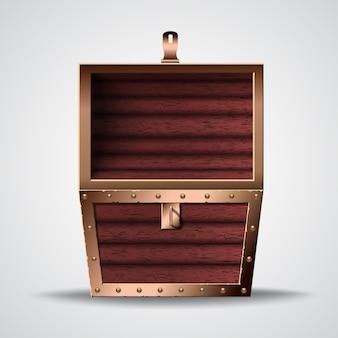 宝箱を開くのイラスト
