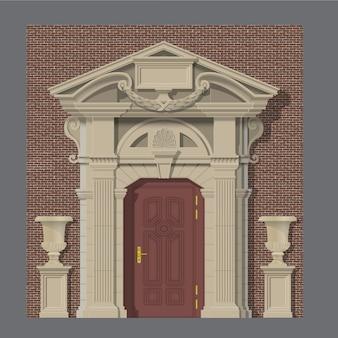 家の石の入り口