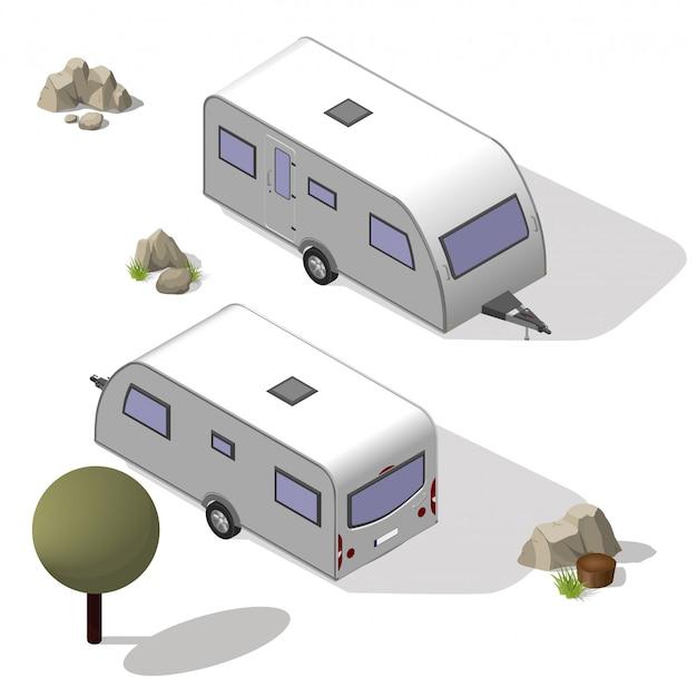 等尺性観光用トレーラー