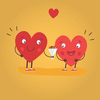 幸せなバレンタインデーのベクトルカード