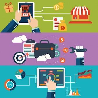 モバイル画面上のビジネス·アナリティクスグラフィック