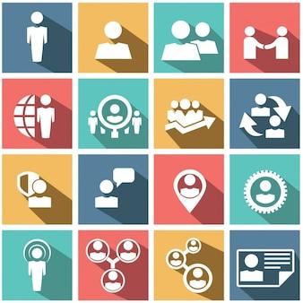 フラットなビジネス要素とインフォグラフィック要素