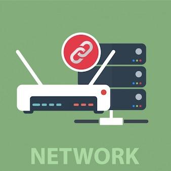 ネットワーク背景デザイン