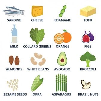 食品要素のコレクション