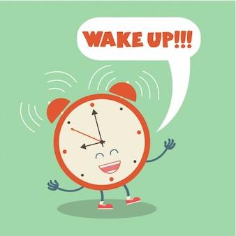 目覚まし時計の背景