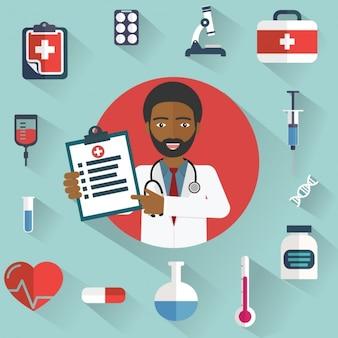 Коллекция медицинских иконки