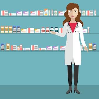薬局の背景デザイン