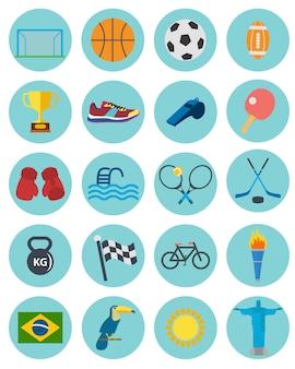 Коллекция спортивные иконки