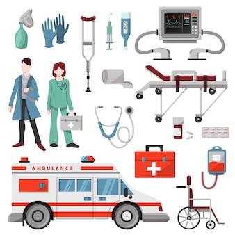 Скорая помощь доктор характер скорая помощь автомобиль и аптека лекарства лекарства таблетки