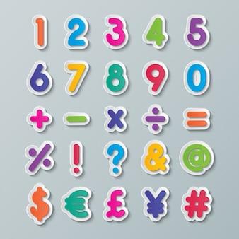 Цифры и символы цветов