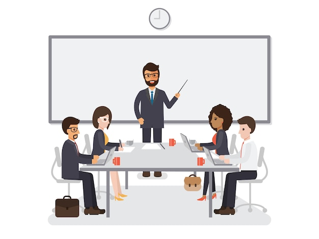 Встреча бизнесменов и предпринимателей.