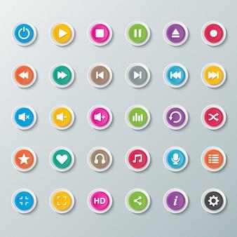 Кнопки для музыкального проигрывателя