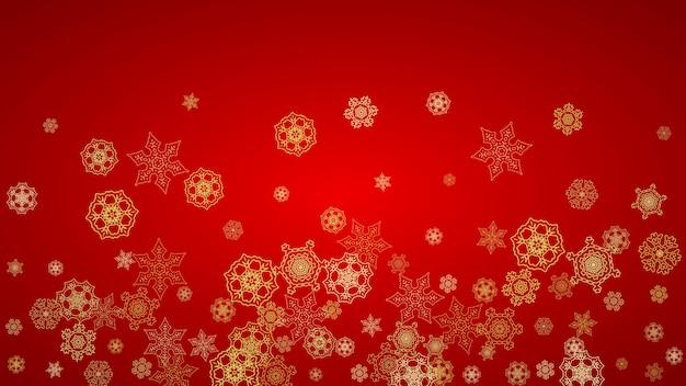 クリスマスと新年の雪