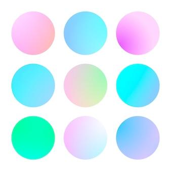 モダンなグラデーションセットの抽象的な背景