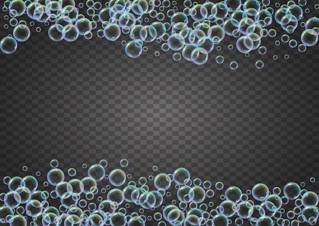 Пузырь фон с шампунем и моющим мылом.