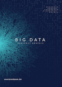 デジタル技術の抽象的な背景。人工知能、ディープラーニング、ビッグデータの概念。