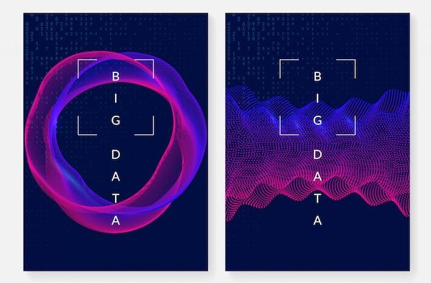 Визуализация дизайна обложки. технология для больших данных