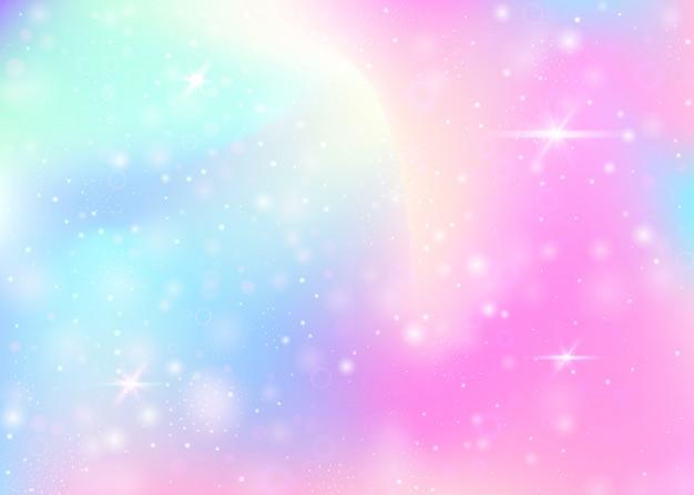 Единорог фон с радугой сетки.