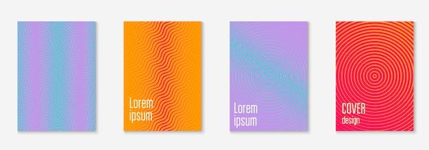 シンプルな幾何学的な要素を持つ企業パンフレット表紙。