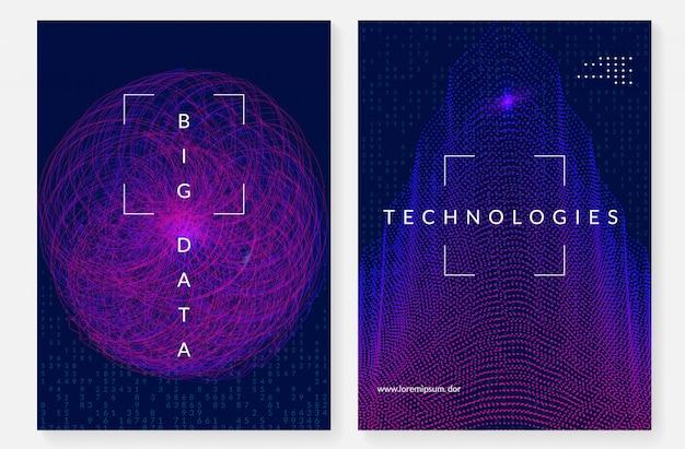 ビッグデータカバーデザイン。視覚化技術