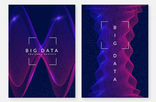 Цифровые технологии абстрактный дизайн обложки. искусственный интеллект