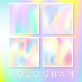 Набор голографических абстрактных фонов.