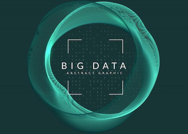 ビッグデータの背景。視覚化技術