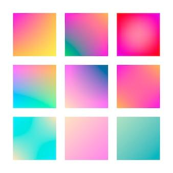 モダンなグラデーションセットの抽象的な色