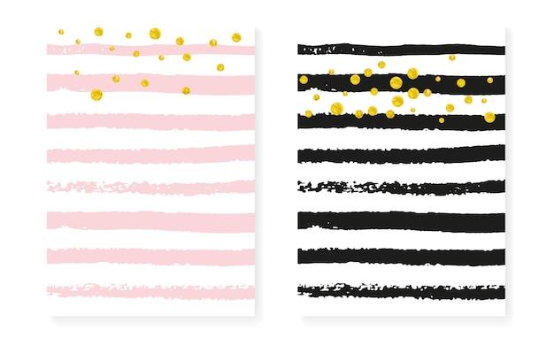 Золотые блестящие точки с блестками, шаблон приглашения