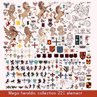Коллекция геральдических элементов