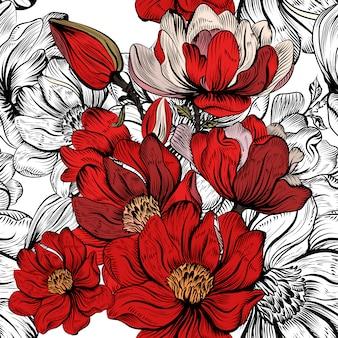 Цветочный шаблон дизайна