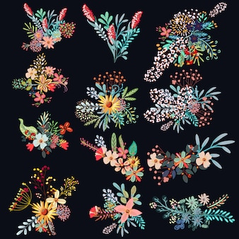 Набор декоративных цветов