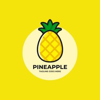 新鮮なパイナップルのロゴ