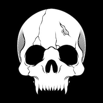 頭蓋骨レトロ