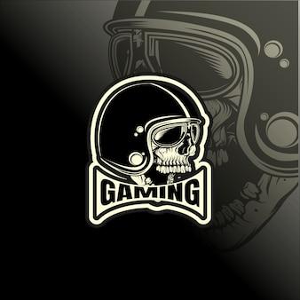 Логотип и спортивный шаблон байкерского шлема.