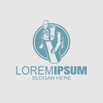 Логотип винтажном стиле рука спрей краска логотип шаблонов.