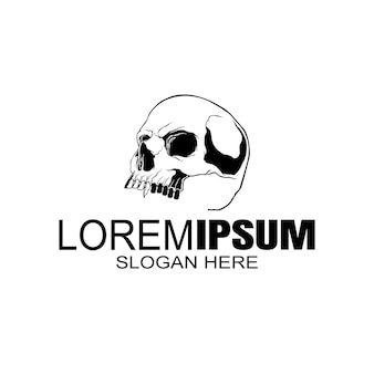 Череп логотип, значок или череп, скелет.