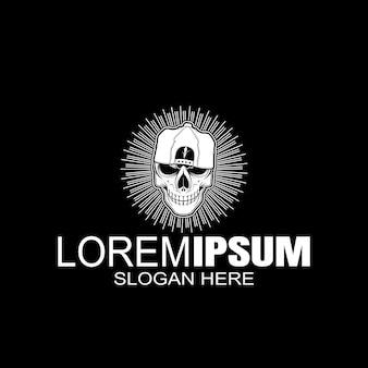Логотип черепа креативный логотип